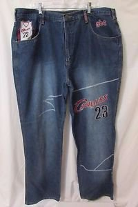 Lebron James Denim Jeans Men's 40x34 Jeans Number 23 Great Detail!