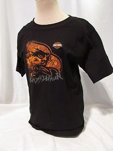"HARLEY DAVIDSON T Shirt Youth Size 18/20  Black Eagle Head ""LIVE TO RIDE"""
