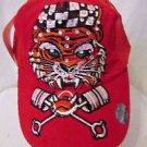 Ed Hardy Trucker Snapback Hat Ball Cap Red Corduroy With Tiger  Rhinestones NWT