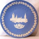 Wedgwood House Of Parliament Christmas Plate 1974 Jasperware Classic