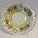 Vintage Arnart Bone China Dish Victorian Design Cutwork Bowl Courting Couples