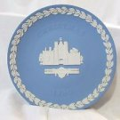 Wedgwood ST. Jame's Place Christmas Plate 1980 Jasperware Classic
