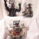 3 STAR WARS EPISODE 1 CUP TOPPERS TACO BELL KFC PIZZA HUT 1999 SEALED