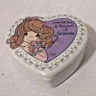 Precious Moments 1997 Trinket Box Heart Wishing You A Bouquet of Blessings