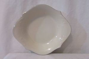 Lenox Handled Bowl Dish Cream/ Silver Trim Relish Serving Bowl