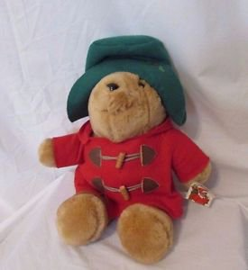"Paddington Bear Plush Christmas Theme 15"" Sears exclusive Stuffed Animal 1994"