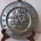 Vintage  Pewter Plate Spirit Of 76 USA!!! 1972 Sexton