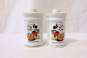 Chef Mickey Mouse Salt & Pepper Shakers Made in Japan Walt Disney Vintage