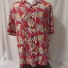 Reyn Spooner Shirt Men's Large Hawaiian Flower Print Coconut Button Shirt