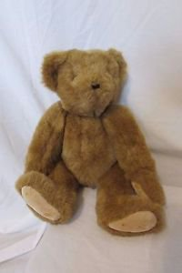 "Vermont 16"" Teddy Bear Medium Brown 1997 Jointed Classic Plush Bear"