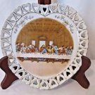 Vintage Lefton Heart Shaped Plate Lord's Last Supper Hand Painted  Numbered 509