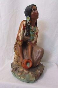 Vintage Rare Pocahontas Universal Statuary Statue Indian Figure  #693 Art