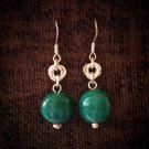 Beaded Drop Earrings Green Droplets