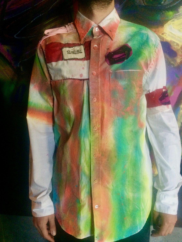 Military Glam Punk Button Down Shirt
