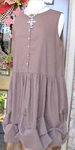 Ladies xsmall, small,medium,large,xlarge brown Julia linen tunic dress