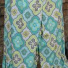 Classy Sassy Couture ladies turquoise and green print bloomer pants
