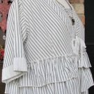 Classy Sassy Couture Ladies casual black and cream ticking shrug topper