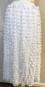 Sassy Rags ladies white ruffle skirt