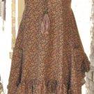 Ladies Sleeveless Brown and orange cap sleeve Tunic Dress-SALE