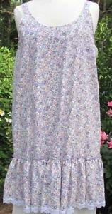 Ladies lavender floral cotton layering slip dress