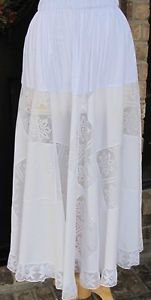 Classy Sassy Couture ladies white cotton layering half slip