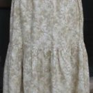 Classy Sassy Couture ladies beige floral cotton layering half slip