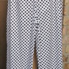 Classy Sassy Couture black and white ankle length cotton ruffle bloomer pants