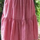 Classy Sassy Couture ladies red gingham cotton layering half slip-SALE