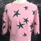 Etre Cecile pink with black stars women top