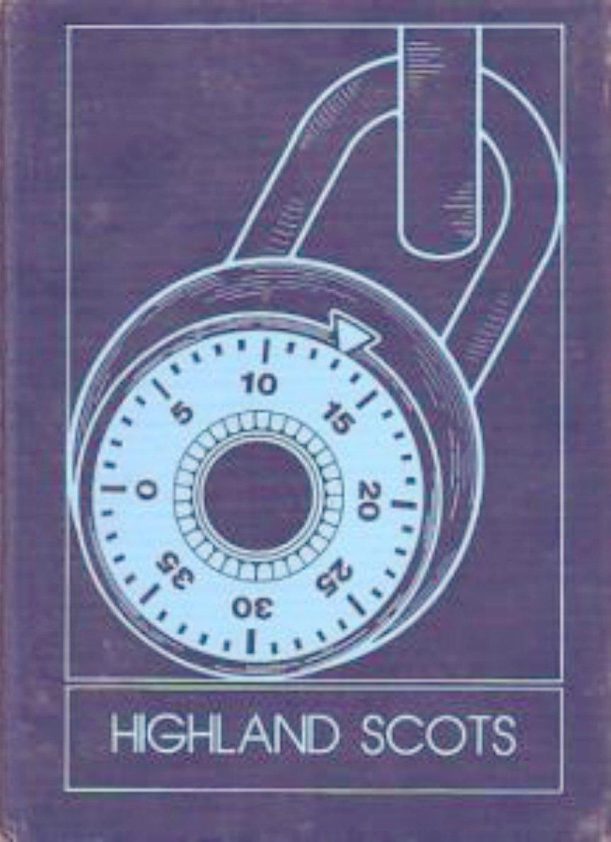 1983 Highland Junior High School Yearbook ~ Michigan