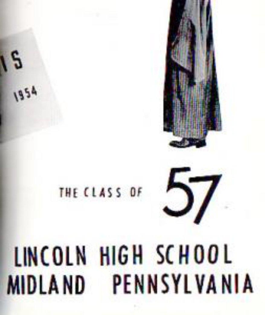 1957 Midland Lincoln High School Yearbook Pennsylvania