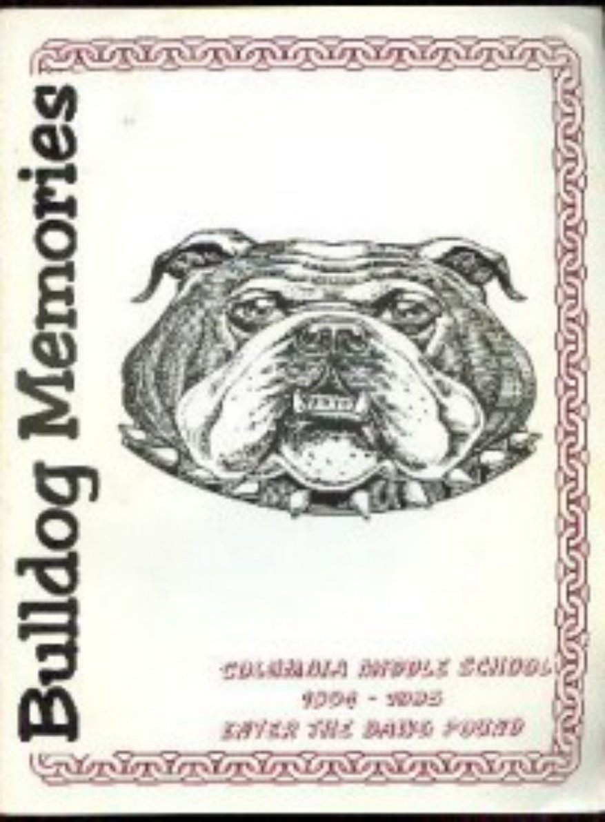 1995 Columbia Middle School Yearbook Supplement Sunnyva