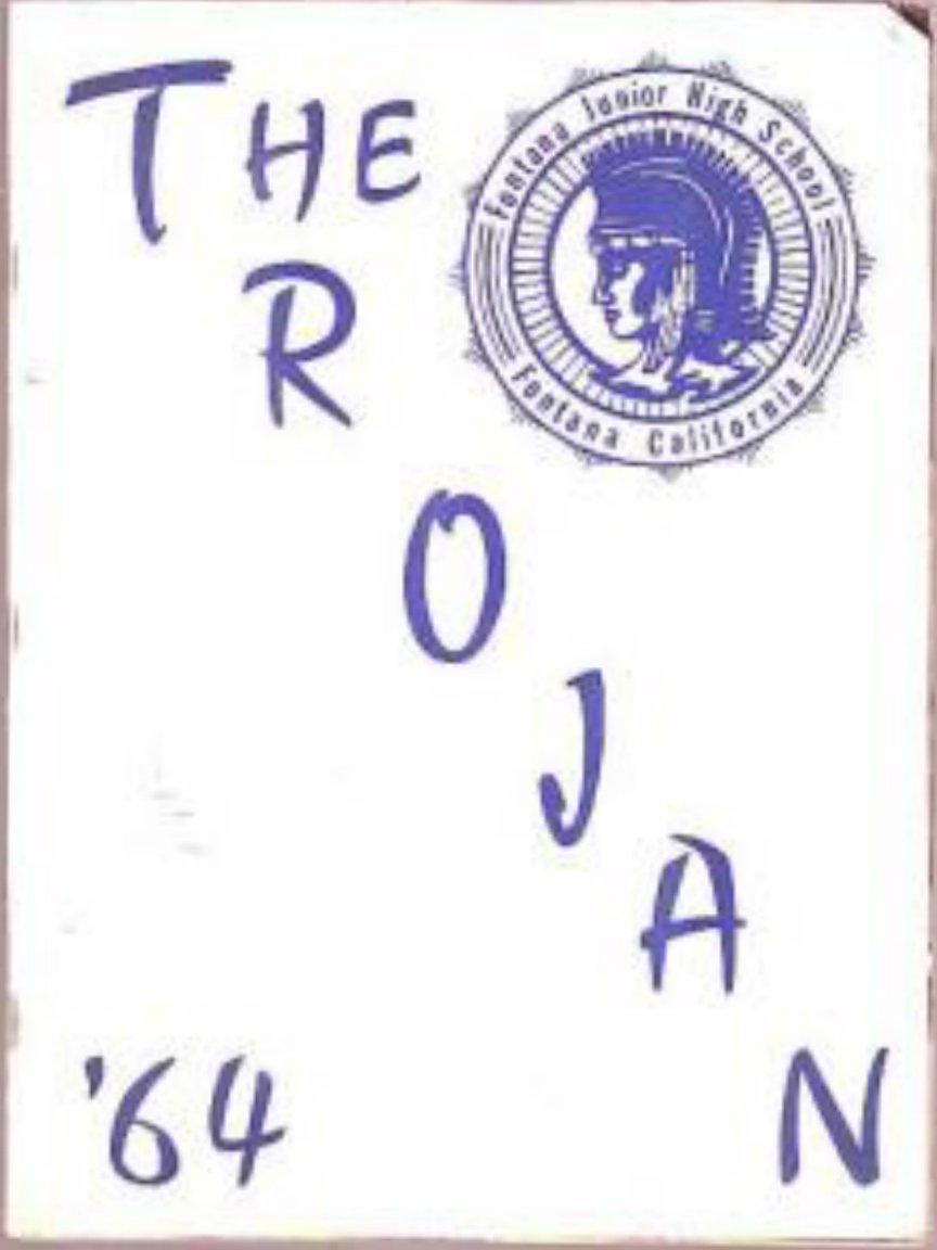 1964 Sequoia Junior High School Yearbook FONTANA Calif