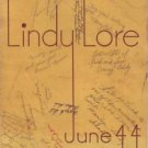 June 1944 Lindberg Junior High School Lindy Lore Yearbook Long Beach California