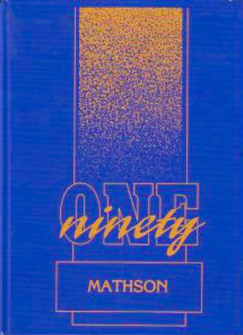 1991 Mathson Middle School Yearbook  San Jose Californa