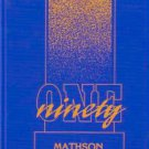 1991 Mathson Middle School Yearbook  San Jose Californa