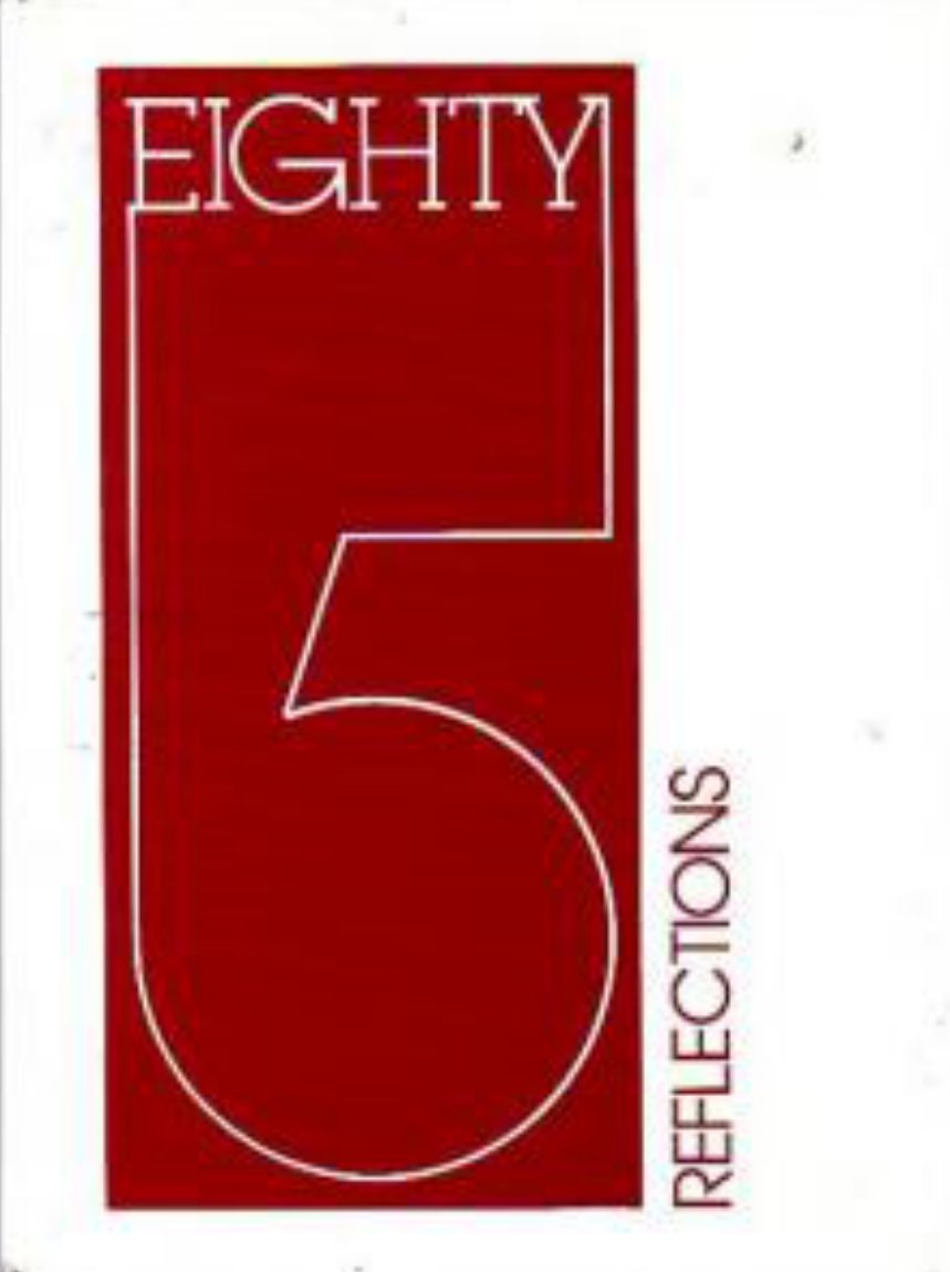 1985 Central Middle School Reflections Yearbook ~ Calif