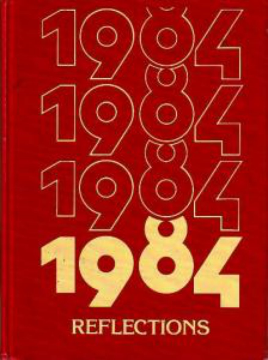 1984 Central Middle School Reflections Yearbook ~ Calif