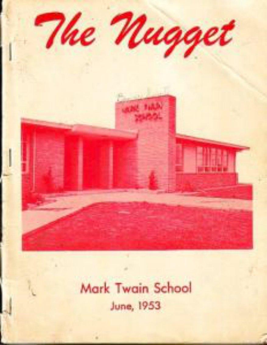 1953 Mark Twain School Yearbook Modesto California