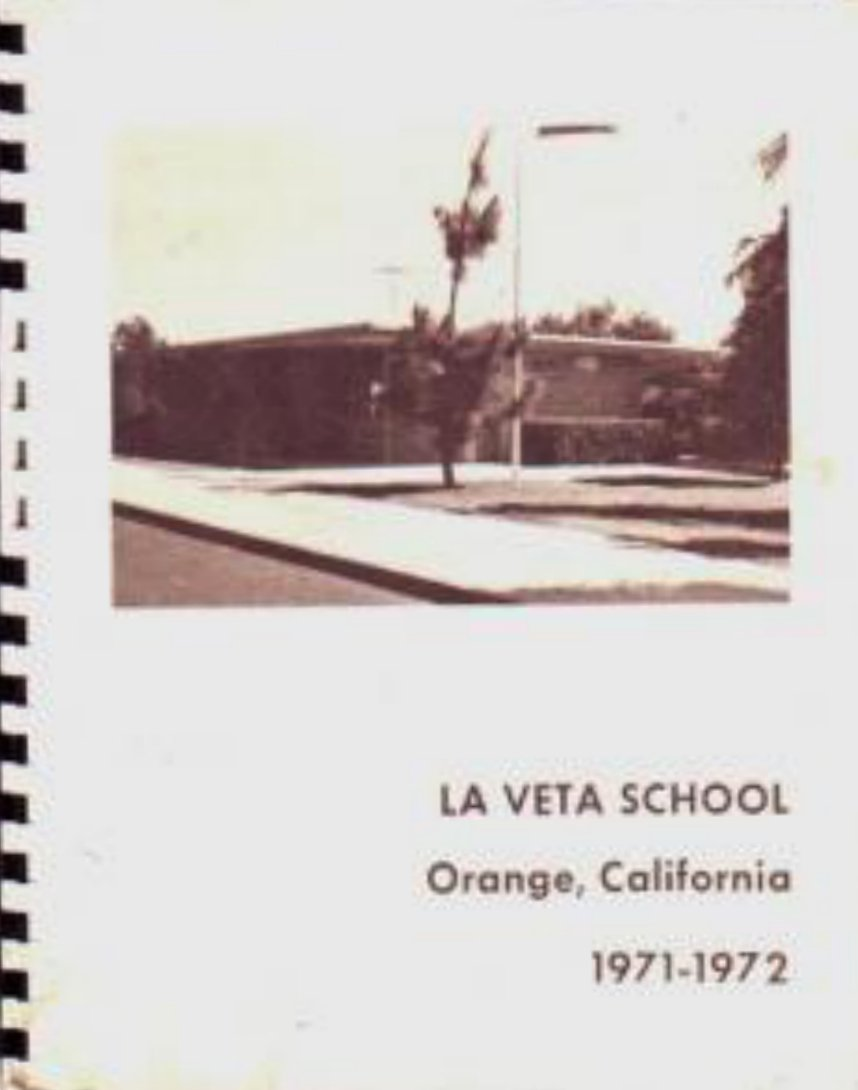 1972 La Veta Elementary School Yearbook ~ Orange Calif