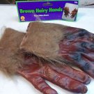 Hands Animal Wolfman Hands Brown Hands Costume Vinyl and Polyester