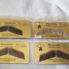 Moustaches Theatrical Human Hair Gentlemen Rubies 2011 Brown Grey Black