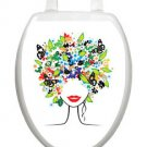 Toilet Tattoos Spring Lady Vinyl Lid Cover Re-usable