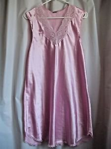 Pink NIghtgown Lace Soft Sleeveless