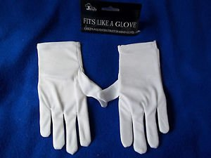 Child White Gloves Stretch Polyester Comfort Dressy Children's