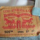 Levi's Jeans Blue Denim Style 505 Size14 Reg 27 W x 27  L