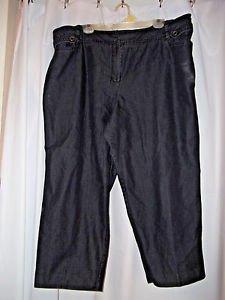 "Larry Levine Woman  22 W Black Capri Pants 42-46 Waist 26 "" Inseam"