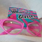 Pink Fifties Eyeglasses Rhinestone Pink Clear Glass Rock