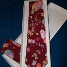 Necktie  Retro Vintage Men's Neckties Maroon  with Dress Hankie Free Box