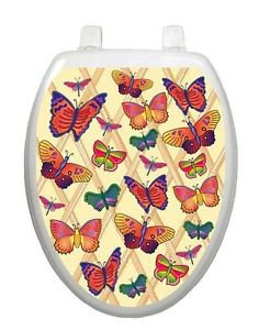 Toilet Tattoos Toilet Lid Cover Decor Butterflies Aflutter #1700
